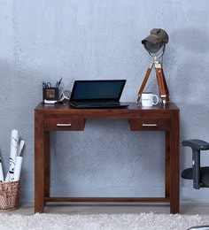 Avian Solid Wood Study U0026 Laptop Table In Provincial Teak Finish ...