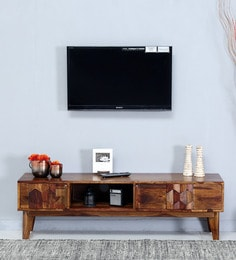 Avilys Entertainment Unit In Provincial Teak Finish