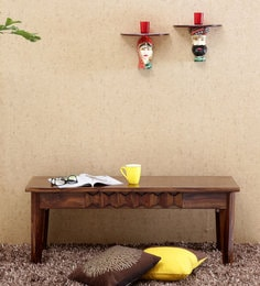 Avilys Solid Wood Bench In Provincial Teak Finish