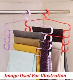 Travel Space Saving Wardrobe Cloth Hanger Foldable Fold Hang Plastic Source AVMART Plastic 4 Layer Pants