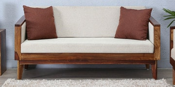 Avilys Two Seater Sofa In Provincial Teak Finish