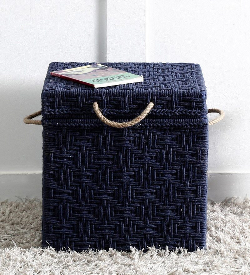 Avapana Woven Trunk in Blue Color by Mudramark