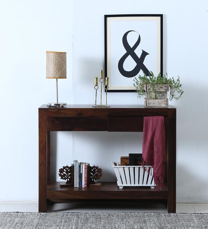 Avian Console Table in Provincial Teak Finish by Woodsworth