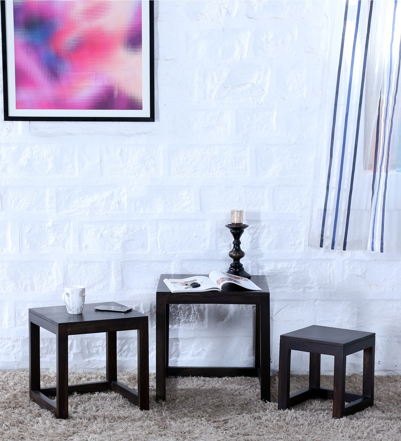Avian Set Of Tables in Warm Chestnut Finish by Woodsworth