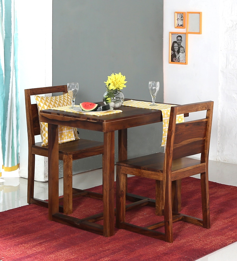 Avian Two Seater Dining Set in Provincial Teak Finish by Woodsworth