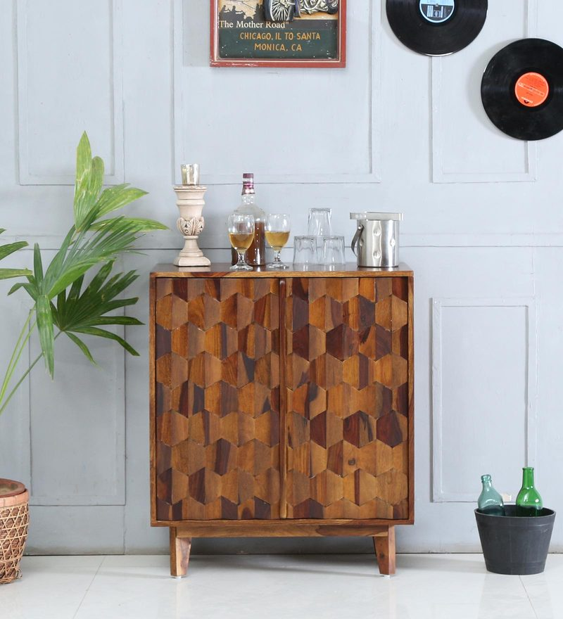Avilys Bar Cabinet in Provincial Teak Finish by Woodsworth