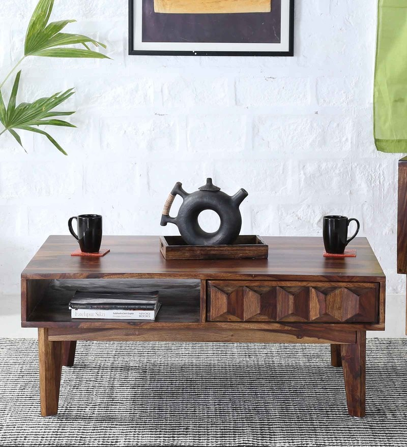 Avilys Coffee Table In Provincial Teak Finish by Woodsworth
