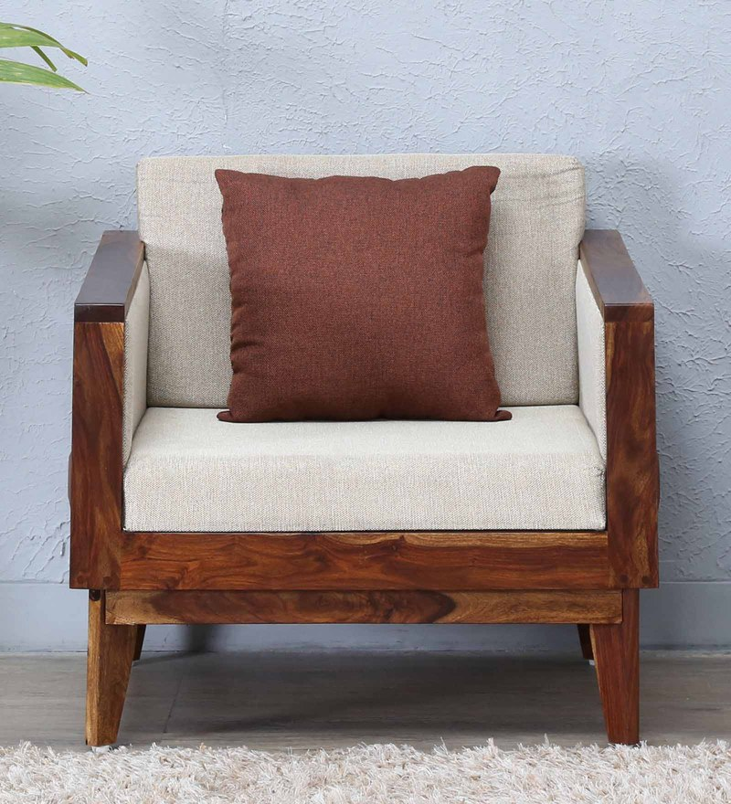 Avilys Single Seater Sofa in Provincial Teak Finish by Woodsworth