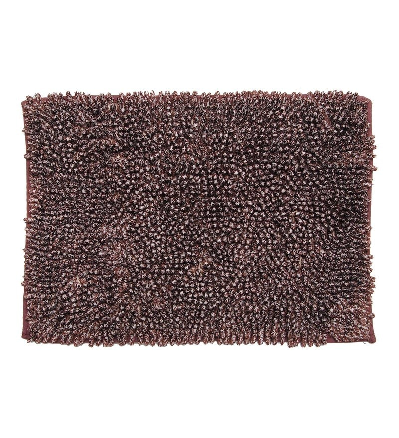Chocolate Micro Chenille 18 x 25.5 Inch Super Soft Marl Door Mat by Avira Home