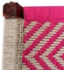Avapana Bench with Jute Weaving in Pink Colour by Mudramark