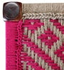 Avapana Stool with Jute Weaving in Pink Colour by Mudramark
