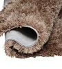 Avira Home Beige Microfibre & Cotton Shaggy Area Rug