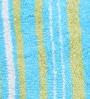 Blue & Green 100% Cotton 18.5 x 27.5 Inch Reversible Stripes Door Mat by Avira Home
