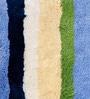 Blue & Green 100% Cotton 22 x 33 Inch Luxurious Stripe Ring Spun Door Mat by Avira Home