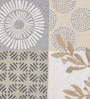 Avira Home Multichecks Beige Cotton & Polyester Placemats - Set of 2