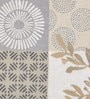 Avira Home Multichecks Beige Cotton & Polyester Placemats - Set of 4