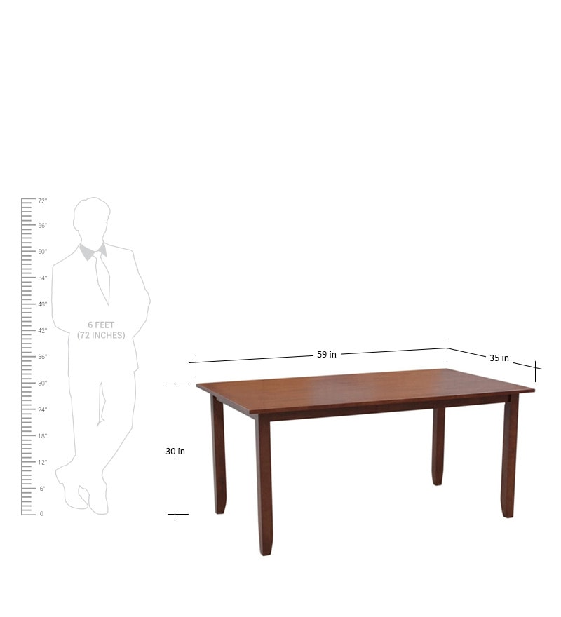 Ayush Dining Table in Medium Brown Colour by Godrej  : ayush dining table by godrej ayush dining table by godrej l38ps9 from www.pepperfry.com size 800 x 880 jpeg 20kB