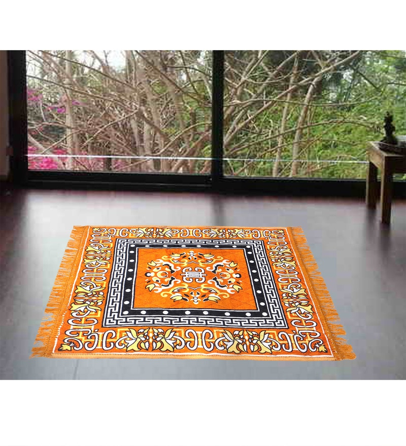 Combo Of 2 Orange Multi Purpose Sitting Mat by Azaani