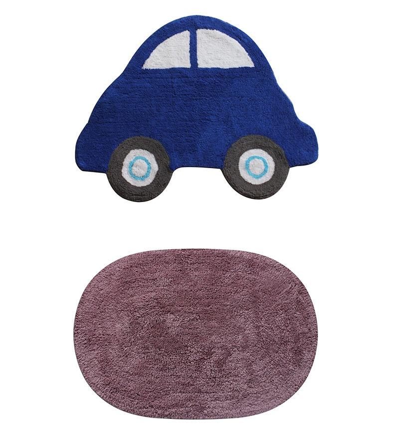 Azaani Violet 2-piece Bathmat Set