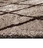 Geometrical Brown Shaggy Carpet by Azaani