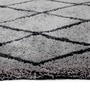Geometrical Grey Shaggy Carpet by Azaani