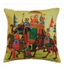 Multicolour Polyester 17 x 17 Inch Beautiful Ethnic Art Cushion Covers - Set of 5 by Azaani