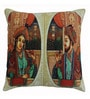 Azaani Multicolour Polyester 17 x 17 Inch Beautiful King Queen Cushion Covers - Set of 5