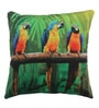 Azaani Multicolour Polyester 17 x 17 Inch Beautiful Parrot Cushion Covers - Set of 5