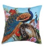 Azaani Multicolour Polyester 17 x 17 Inch Beautiful Peacock Cushion Covers - Set of 5
