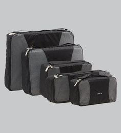Bags R Us Polyester Black Packing Cubes - Set Of 5,13 Litres