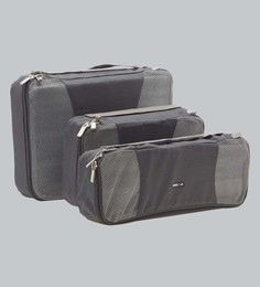 Bags R Us Polyester Grey Packing Cubes - Set Of 3,7.7 Litres