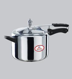 Bajaj Majesty Duo Aluminium Pressure Cooker With Innder Lid,2000 ML