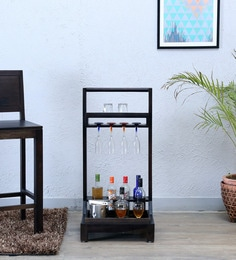 Acropolis Bar Trolley In Warm Chestnut Finish