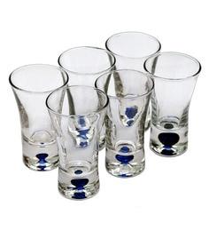 Bar World Blue Glass 60 ML Shot Glasses - Set Of 6 - 1601753