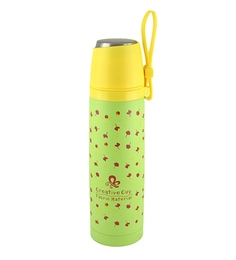 Bar World Green & Yellow Stainless Steel & Plastic 500 ML Vacuum Flask