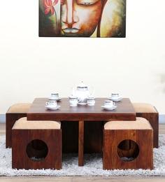 Barnes Coffee Table Set In Honey Oak Finish