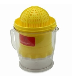Bartan Shopee Yellow & White Plastic Fruits & Vegetables Juicer With Handle