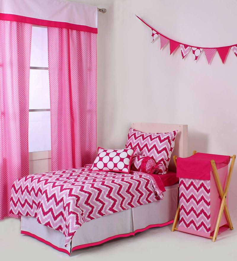 Mix N Match Pink Zigzag 4 Piece Toddler Bedding Set by Bacati