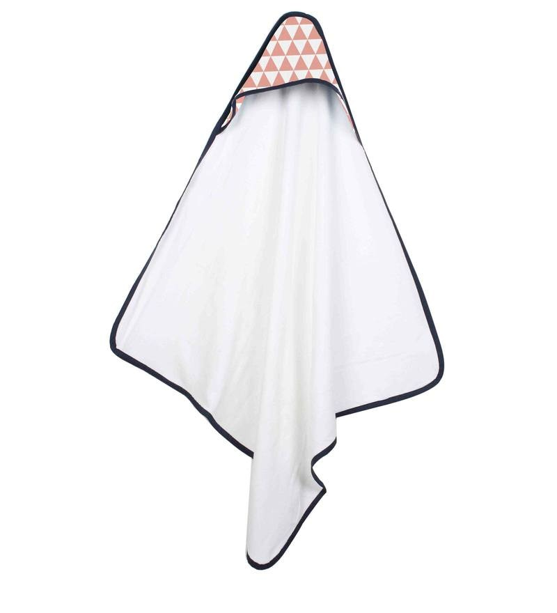 Tribal Coral Triangles Hooded Towel by Bacati