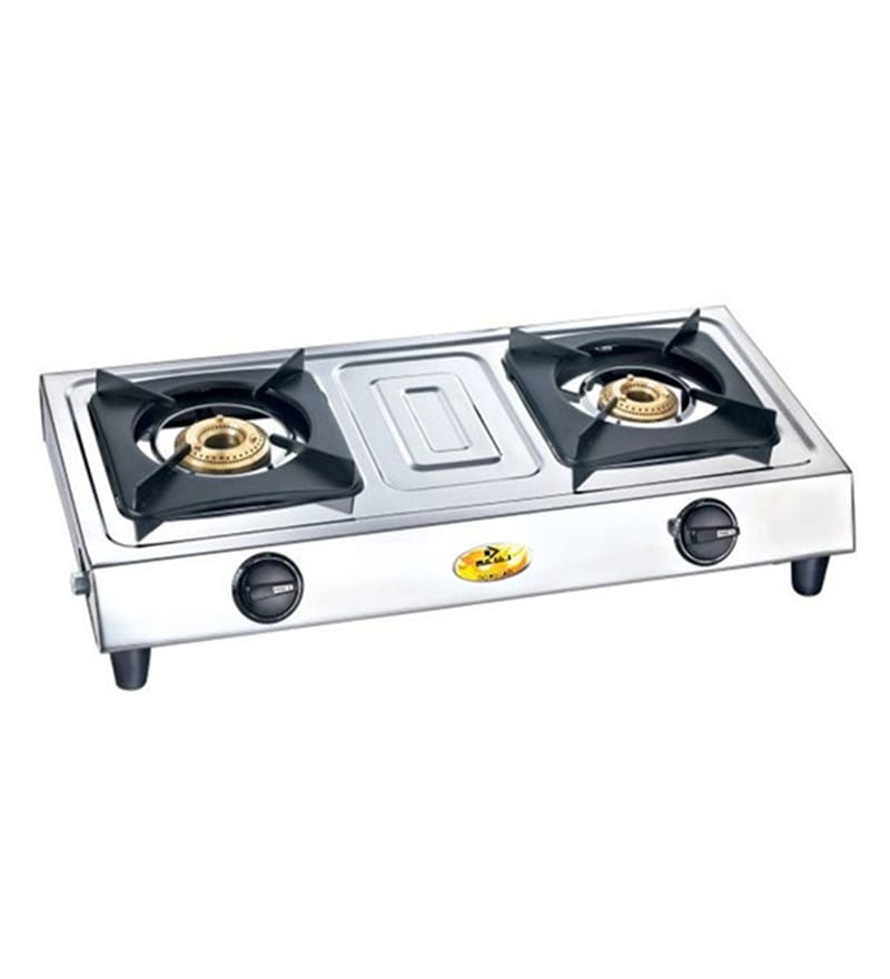 Bajaj Popular Eco 2 Stainless Steel 2-Burners Gas Stove