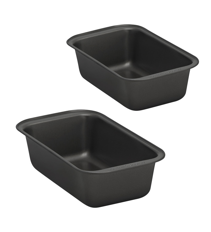 Baker's Secret Steel and Silicon Medium Cake Pan - Set of 2