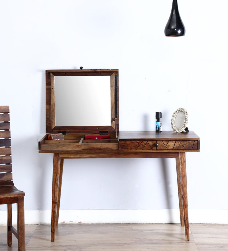 Boyd Dressing Table in Provincial Teak Finish by Woodsworth