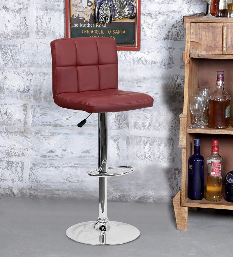 Bar Chair in Maroon Colour by Exclusive Furniture