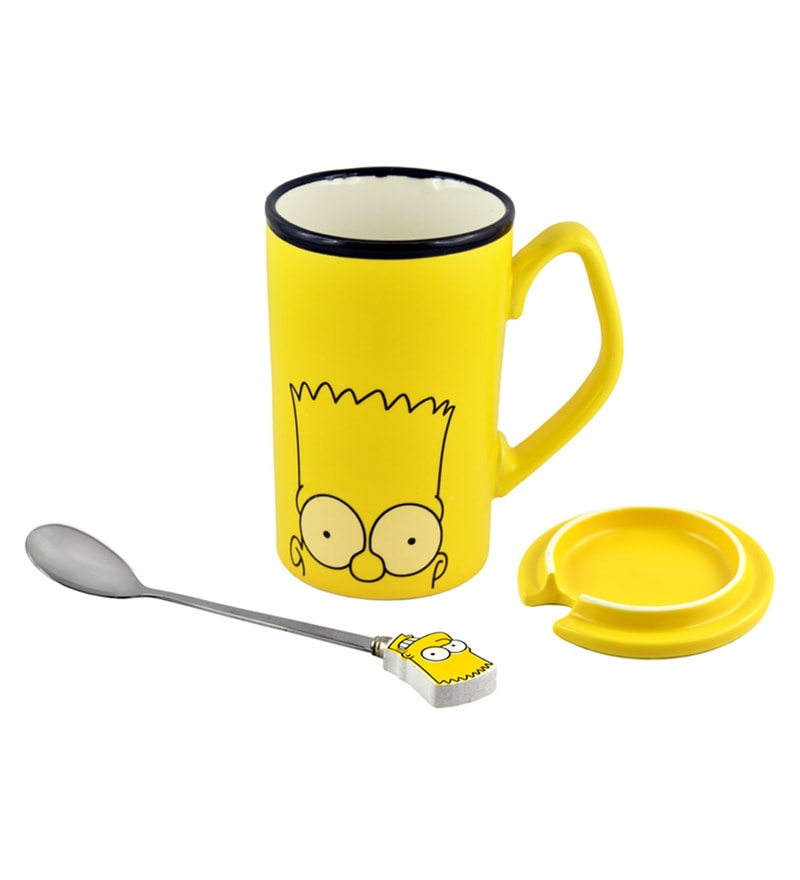 Bar World Simpsons Ceramic & Stainless Steel 380 ML Mug