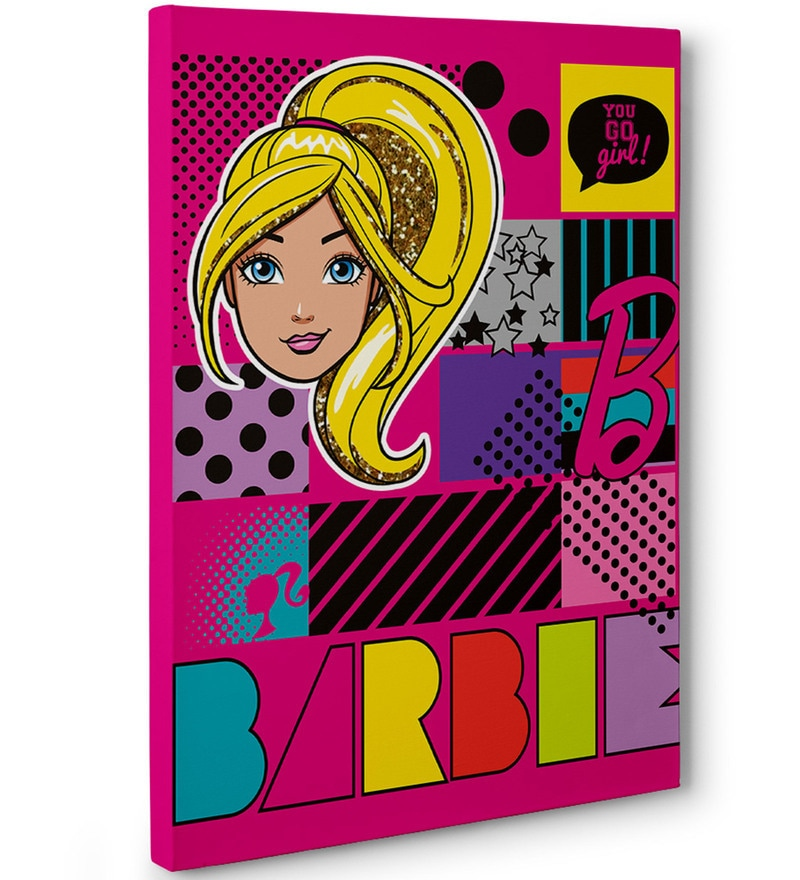 Barbie You Go Girl Canvas Poster by Gingercrush