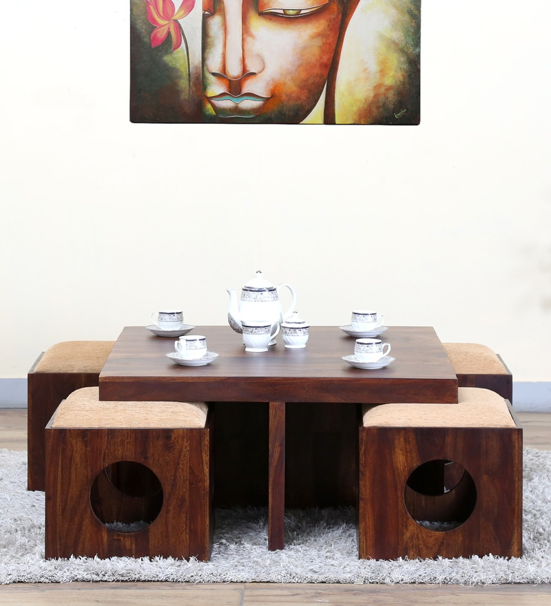 Barnes  Coffee Table Set in Provincial Teak Finish by Woodsworth