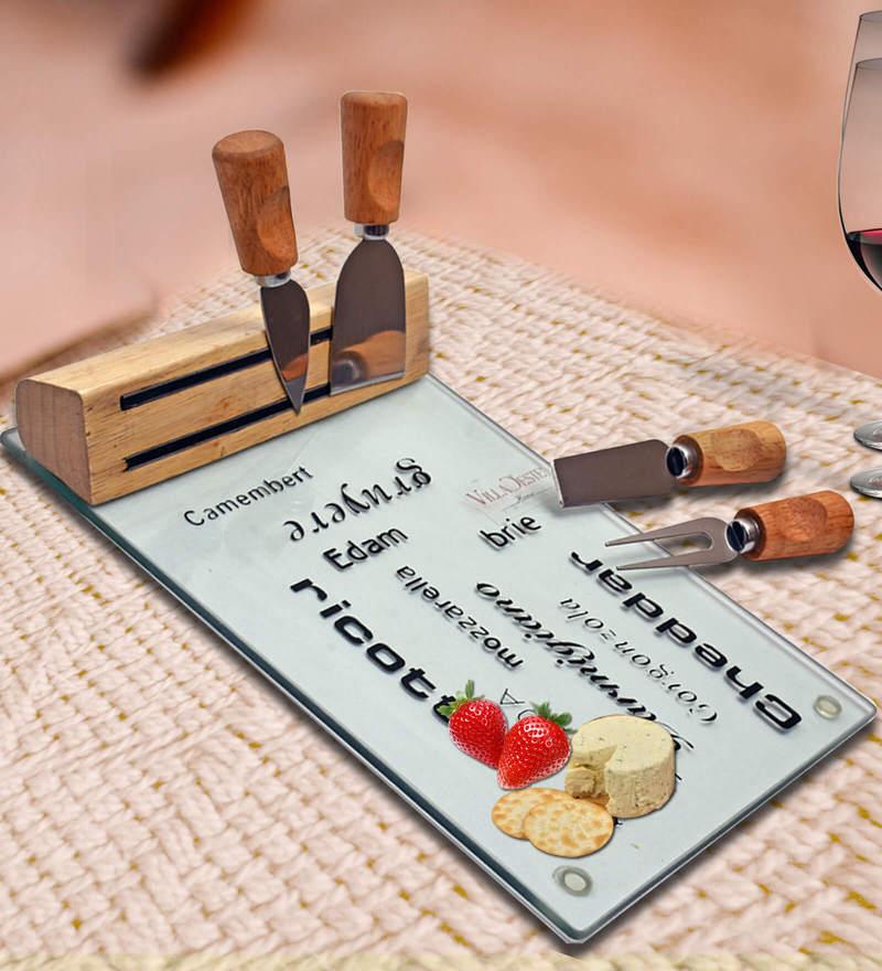 Barworld Cheese Knife Set With Cutting Board