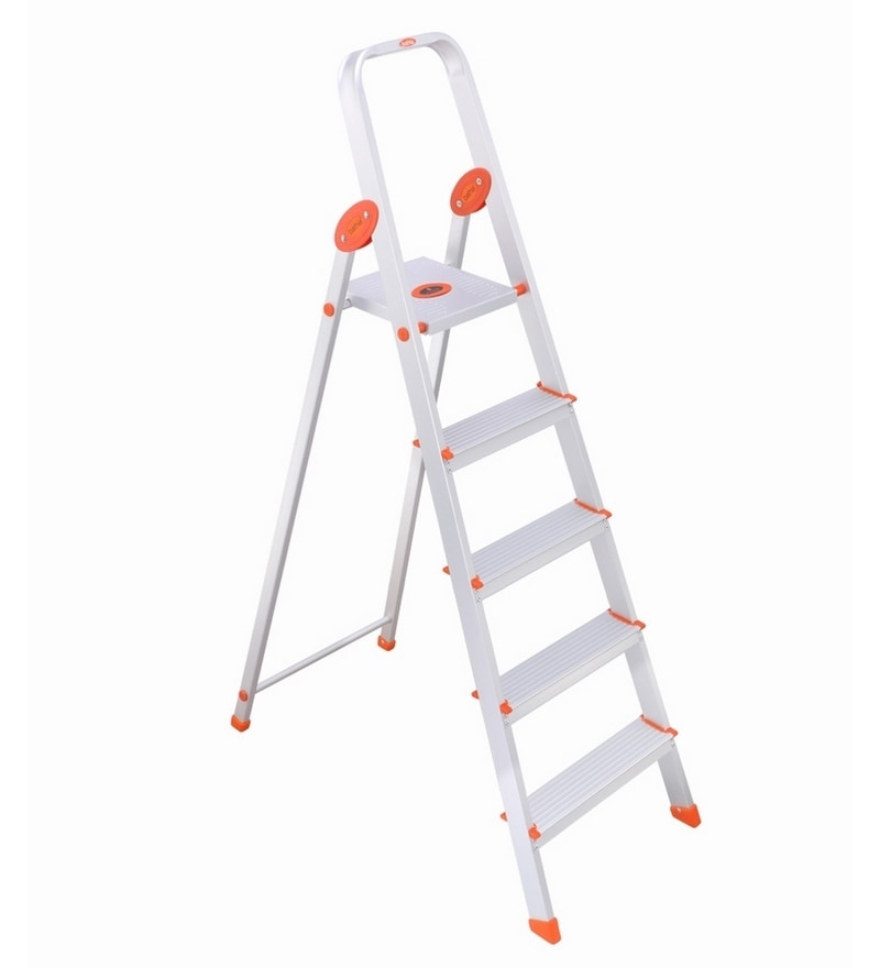 Bathla Aluminium 4 Steps 3.6 FT Ladder with Platform