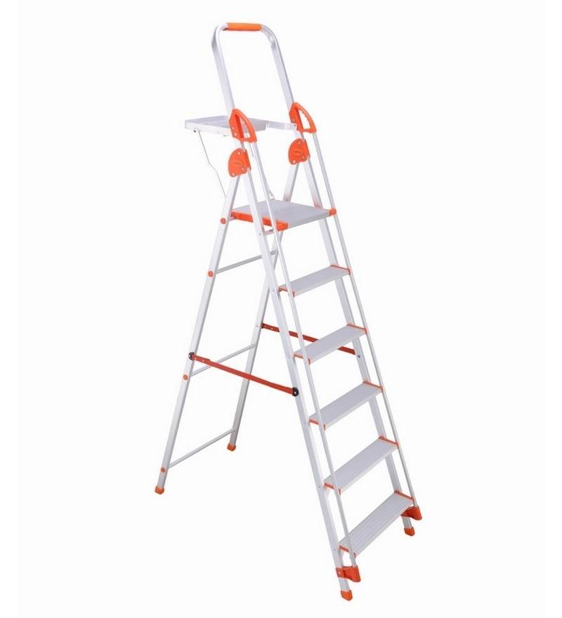 Bathla Aluminium 5 Steps 5 FT Ladder with Platform