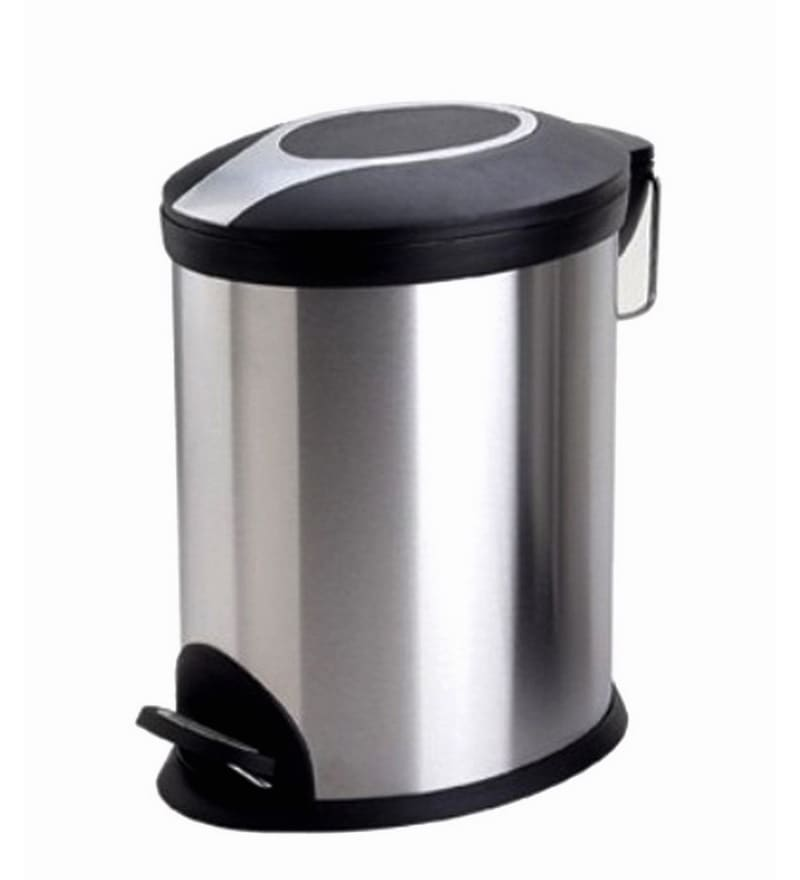 Bathla Black Steel 12 L Dustbin